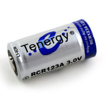Rechargeable CR123A battery