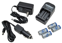 RCR123A battery & charger
