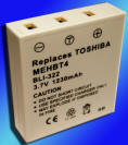 Toshiba Gigashot V10 MEHBT4 Digital Camera Battery