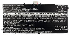 C21-TF301 Tablet Battery
