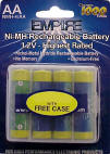 Rechargeable AA NiMH Batteries for digital cameras & phones