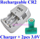 Rechargeable CR2 with Charger