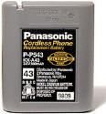 Original Panasonic P-P543 Type 43 cordless Phone Battery