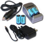 Tenergy rechargeable CR123 900mAh battery and charger